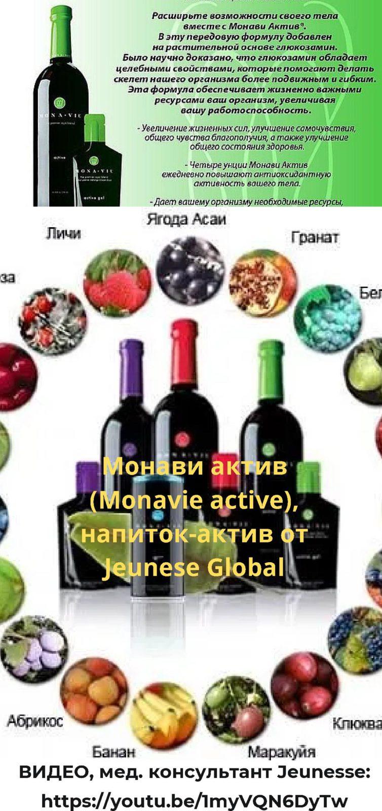 Расширьте свои возможности, вместе с Монави актив (Monavie active), напиток-актив от Jeunese Global, видео от мед. консультанта. Picture