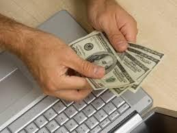 Деньги, доллары, компьютер.Picture.